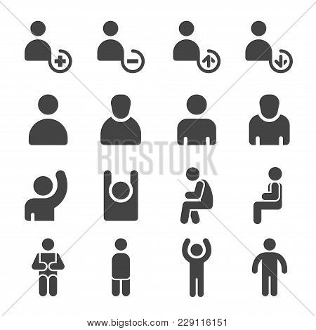 Person And Personal Icon Set Vector Illustration