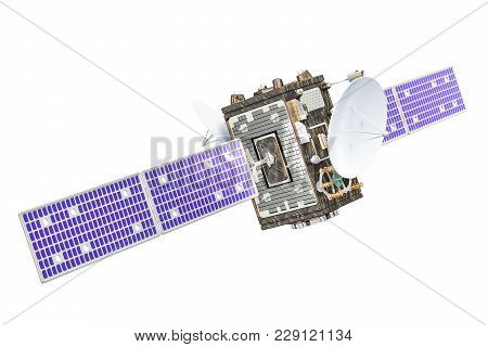 Satellite, 3d Rendering Isolated On White Background