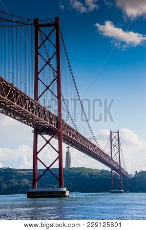 Lisbon, Portugal - January 28, 2011: Walks Along The Banks Of Tagus River In Belem