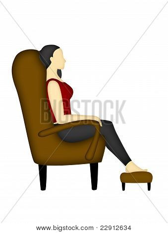 Back and shoulder correct position when you are sitting in a couch