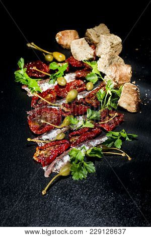 Anchovies Tomatoes And Capers