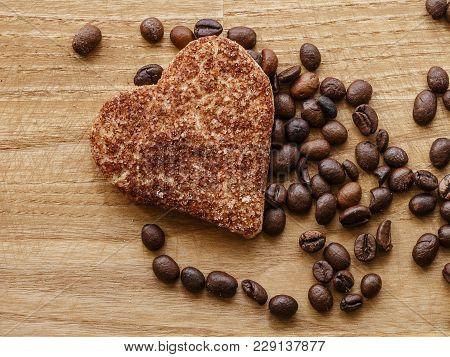 Coffee Bean And Cinnamon Cookie Wood Texture
