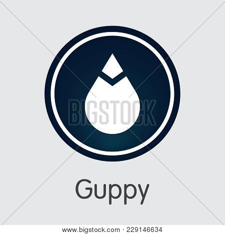 Guppy Vector Coin Illustration For Internet Money. Crypto Currency Pictogram Of Gup And Symbol For U