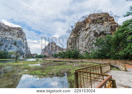 Reservoir In Khao Gnu Rock Park