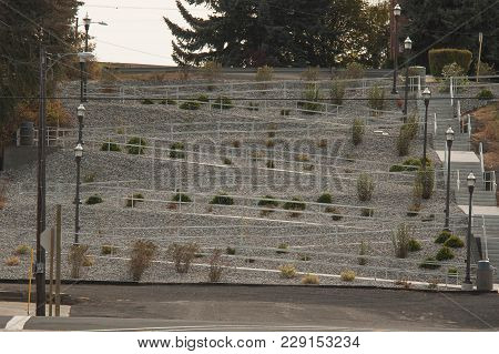 Ramp Switchbacks  In Public Park In Palouse Region Of Washington State