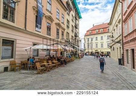 Streets Of Bratislava With Small Houses