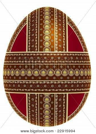 Isolated Ornate Egg