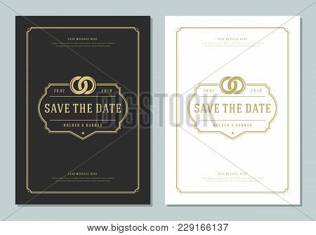 Wedding Save Date Invitation Card Vector Photo Bigstock