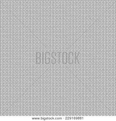 Lines Of Short Length Forming Circle Inside, Seamless Pattern Consisting Of Geometric Elements, Vect