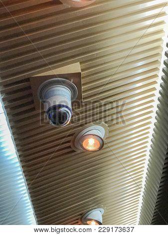 Cctv Security Camera At Big Conference Hall
