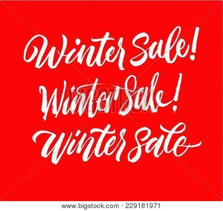 Winter Sale Lettering Set. Handwriting Calligraphy Sale Inscription. Good For Spring Sale Time. Sale