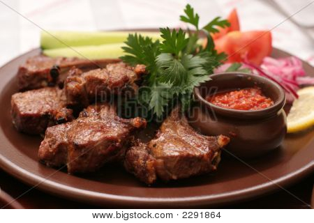 Meat With Fresh Vegetables