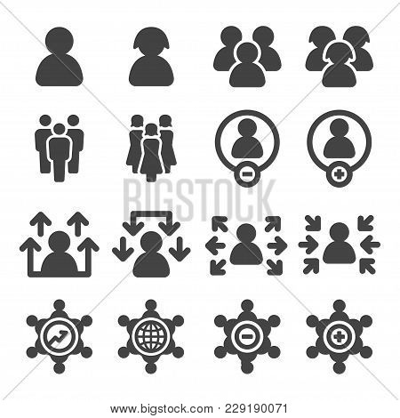 People And Population Icon Set Vector Illustration