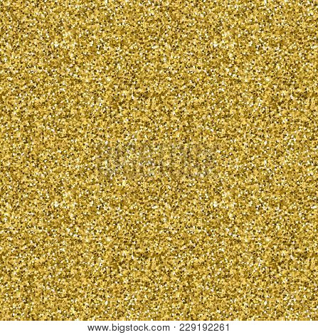 Gold Glitter Seamless Texture. Gold Vector Background