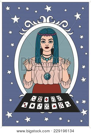 Vintage Circus Illustrations Collection. Flash Tattoo. Circus Perfomer. Psychic, Fortune Teller