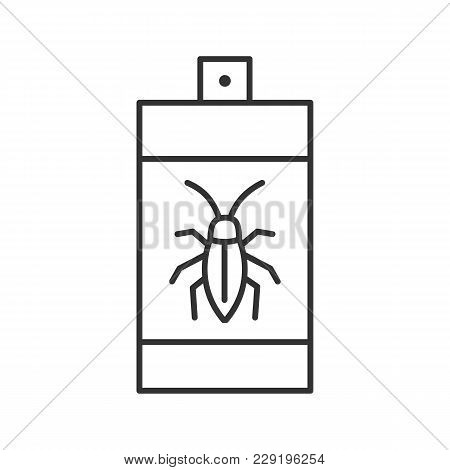 Roaches Bait Linear Icon. Cockroach Repellent Spray. Pest Control. Thin Line Illustration. Contour S