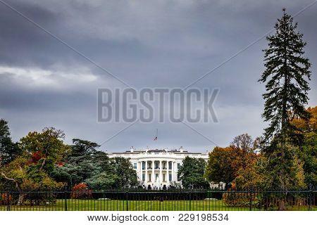 Grey Day White House