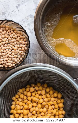 Aquafaba Made Of Chickpea. Replace Egg In Baking For Vegan Recipe. Healthy Diet Concept