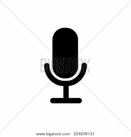 Microphone Icon Isolated On White Background. Microphone Icon Modern Symbol For Graphic And Web Desi