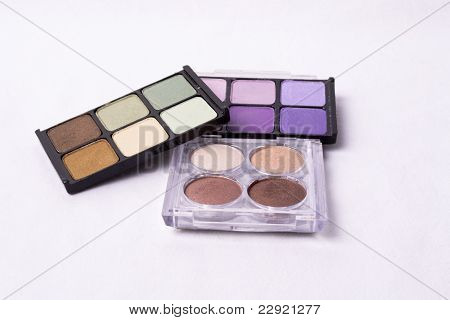 Eyeshadow Makeup Isolated On White Background