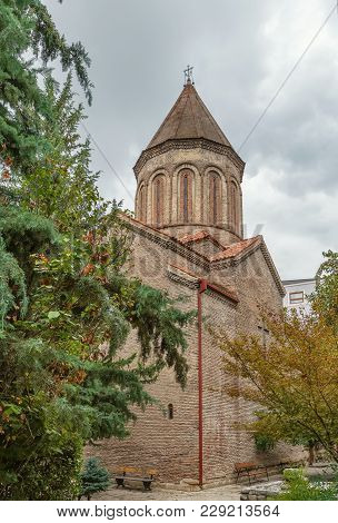 Djvaris Mama Is Old Church In Tbilisi City Center, Georgia