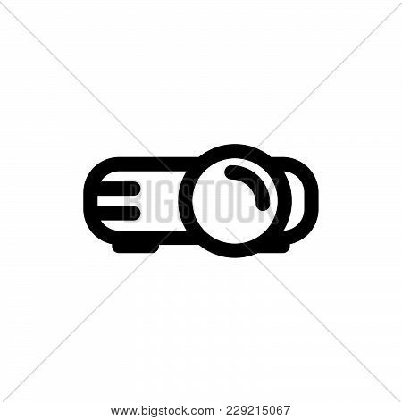 Video Projector Icon Isolated On White Background. Video Projector Icon Modern Symbol For Graphic An