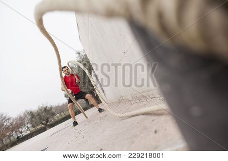 Man Training With The Rope 03
