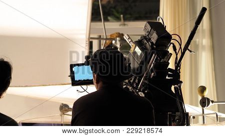 Behind The Scenes Of Filming Video Commercial.