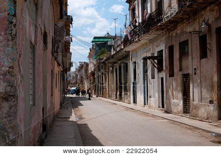 Typical street of Havana
