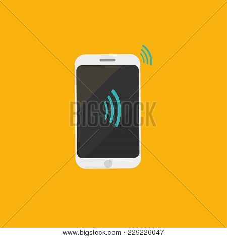 Vector Icon For Contactless Payments Promotion, Known As Near Field Communication Or Nfc Air Pay: Sm