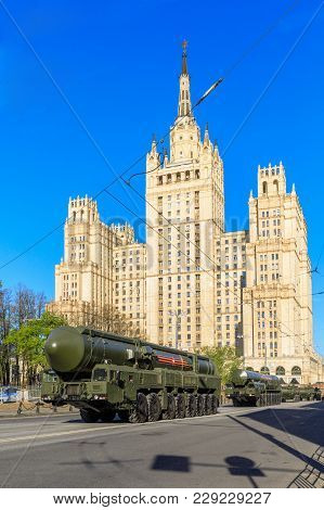 Moscow, Russia - May 09, 2017:russian Thermonuclear Weapon Intercontinental Ballistic Missile Yars O