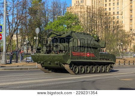 Moscow, Russia - May 09, 2017:air Defense Missile System Buk-m2 On Parade Festivities Devoted To 72