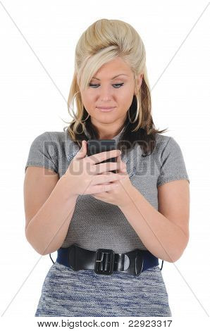 Attractive Woman Using A Smart Phone 08