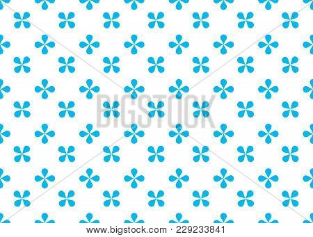 Seamless Abstract Geometric Pattern Of Imitation Colors In Blue Tone