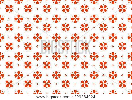 Seamless Abstract Geometric Pattern Of Imitation Red Color