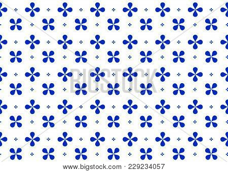 Seamless Abstract Geometric Pattern Of Imitation Blue Color
