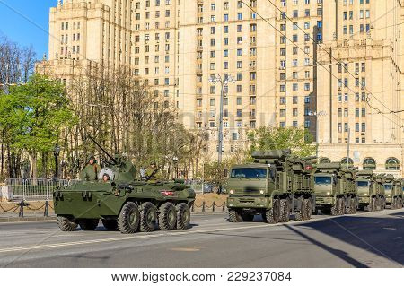Moscow, Russia - May 09, 2017:air Defense Missile System Pantsir-s1 On Parade Festivities Devoted To
