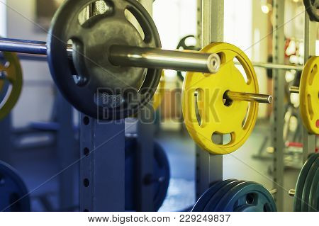 The Sports Equipment In The Gym, Weights