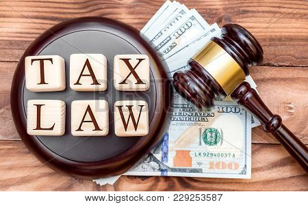 Tax Law Concept. Words
