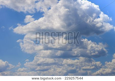 Blue Sky With Puffy White Clouds Art