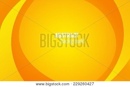 Yellow Twist Lines Background. Modern Template Design For Website, Brochure, Card. Light Elements On