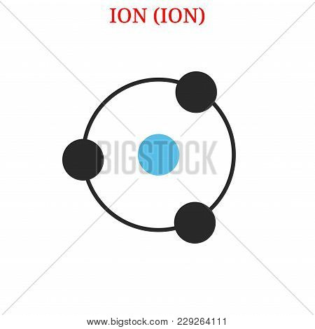 Vector Ion (ion) Digital Cryptocurrency Logo. Ion (ion) Icon. Vector Illustration Isolated On White