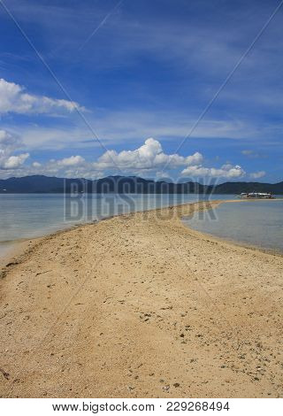 Landscape Of Port Barton Beach. The Island Of Palawan. Philippines.