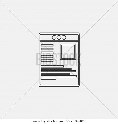 Newspaper Icon Vector Illustration. News Icon Vector