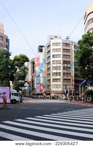 Tokyo, Japan -october01, 2017: Shops And Restaurants At Ikebukuro Station.ikebukuro Station Is A