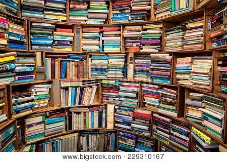 Deventer The Netherlands - Aug 6 2017: Various Second Hand Books For Sale At The Deventer Boekenmark