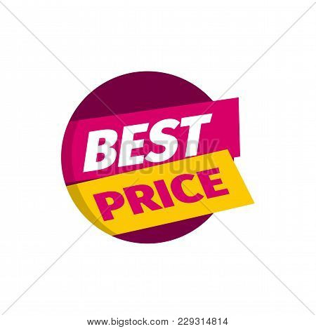 Isolated Sale Banner Best Price Template Vector Illustration.