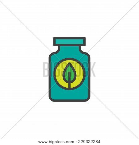 Fertilizer Bottle Filled Outline Icon, Line Vector Sign, Linear Colorful Pictogram Isolated On White