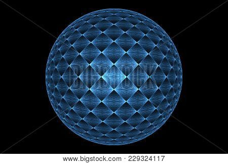 Bright Abstract Fractal Blue Magic Ball Of Fantasy, Fractal Magic Ball Fantasy