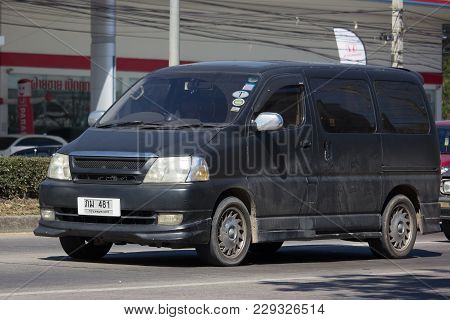 Private Old Toyota Granvia Van Car.